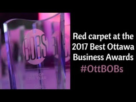 Red carpet interviews at the 2017 Best Ottawa Business Awards