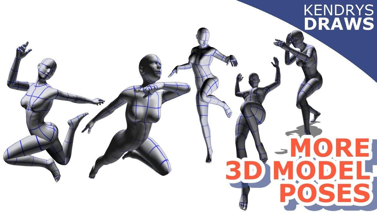 3D model poses- clip studio paint- free download