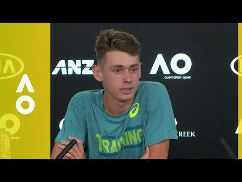 Alex De Minaur press conference (1R) | Australian Open 2018