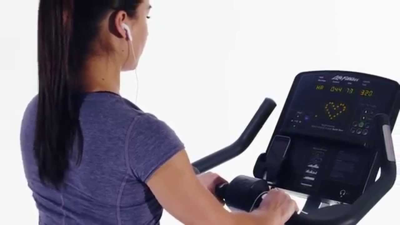 The Life Fitness Club Series Lifecycle Upright Bike Youtube