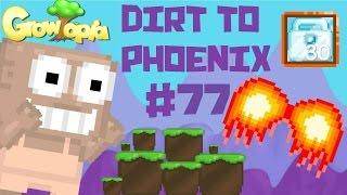 Growtopia - Dirt To Phoenix #77   30 DIAMOND LOCKS!!
