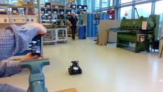 Simulating driving of a robot through an oil tank