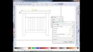 Designing An End Table In Inkscape