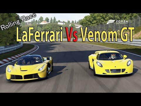 Forza Motorsport 6  – DRAG RACE: Ferrari LaFerrari Vs Hennessey Venom GT x2 Races