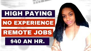 6 High Paying Work From Home Jobs.Up To $40 an hr! No Experience Required.
