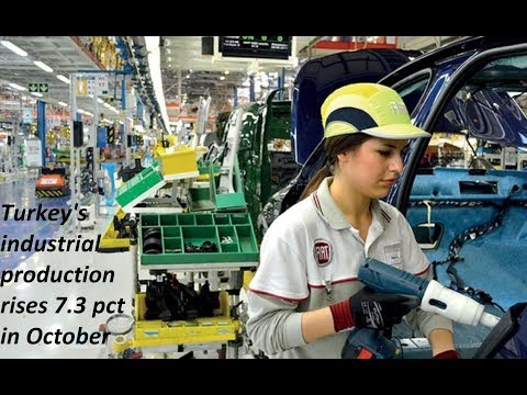 Turkey's industrial production rises 7.3 pct in October