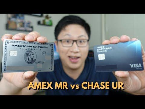Amex Membership Rewards vs Chase Ultimate Rewards