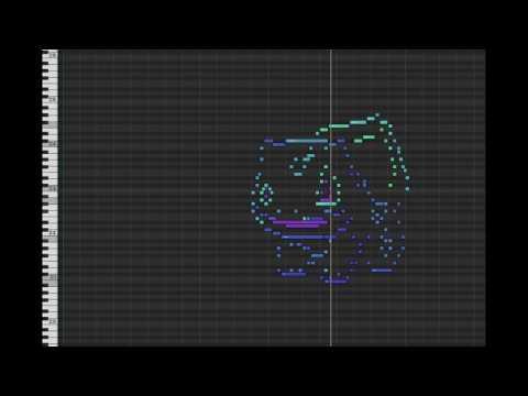 MIDI Drawing no. #4 - Bulbasaur (pokemon 001)