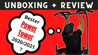 Bester Power Tower 2020/2021? Unboxing und Review - MSPORTS Power Tower für Zuhause