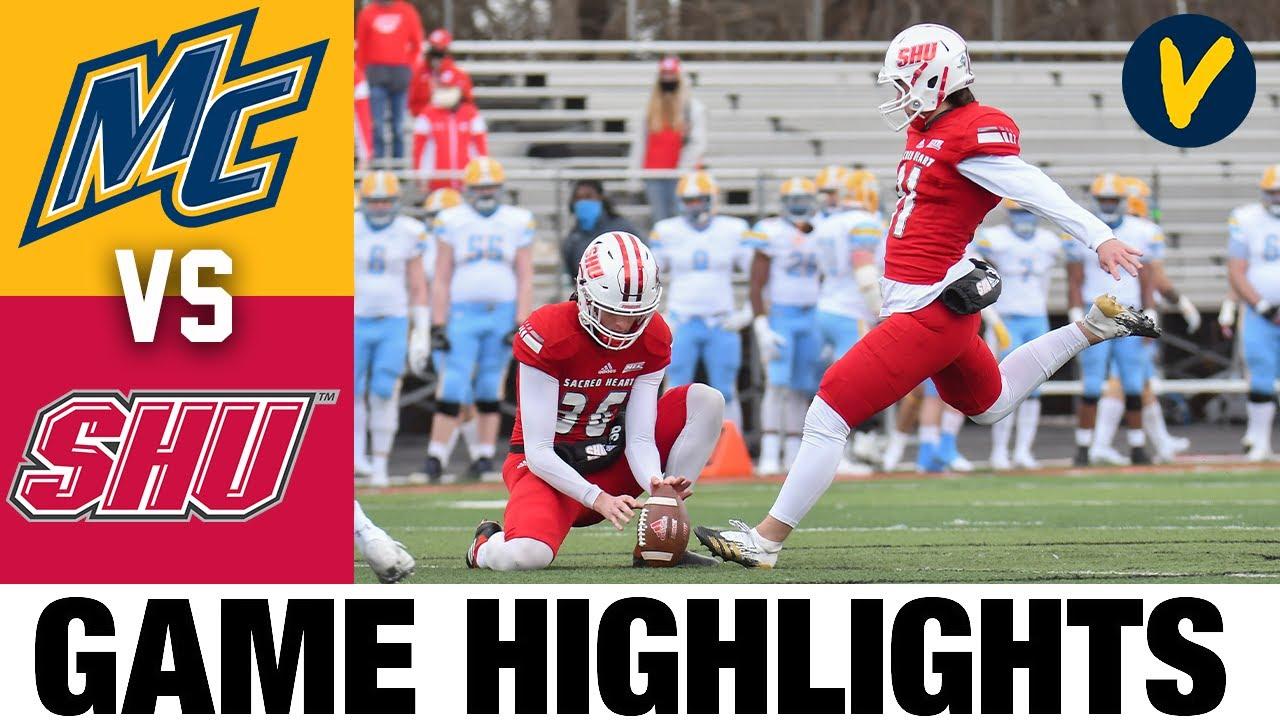 Merrimack vs Sacred Heart Highlights | FCS 2021 Spring College Football Highlights