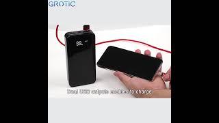 Powerbank GROTIC GYF20 20000mAh Fast Charging 3.1A Dual USB with LED Flashlight Power Bank Terbaik