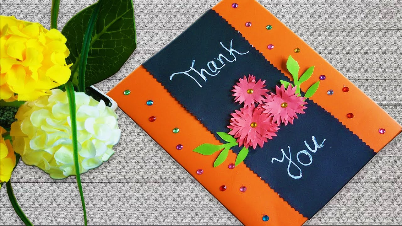 Thank you card ideas / Beautiful handmade card for your Friend