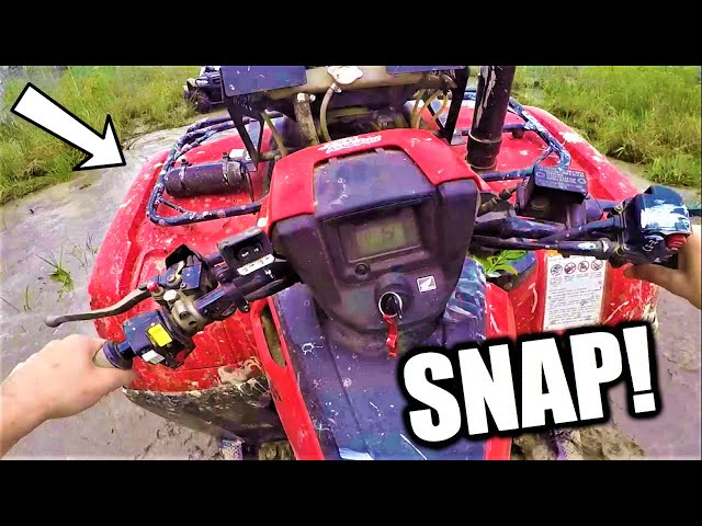 I BROKE my FOUR WHEELER in DEEP THICK MUD!