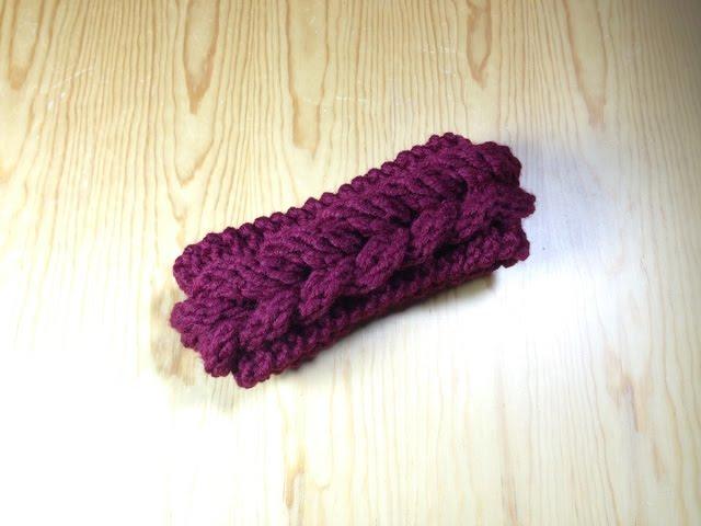How To Easy Loom Knit A Braided Headband Ear Warmer Diy Tutorial