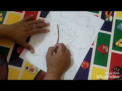 Mewarnai Gambar Pohon Dengan Teknik Gradasi Youtube