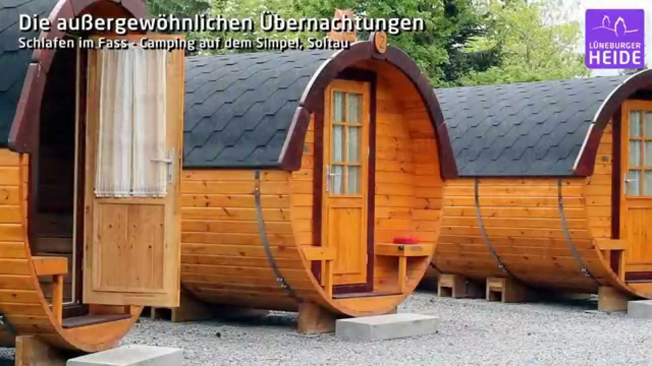schlafen im fass die au ergew hnlichen bernachtungen in der l neburger heide youtube. Black Bedroom Furniture Sets. Home Design Ideas