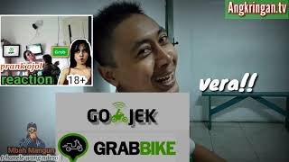 Prank ojol reaction||pilih siska atau Vera?
