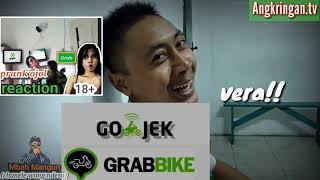 Prank ojol reaction||pilih siska atau Vera?