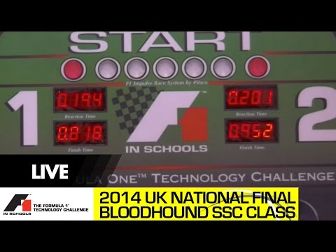 F1 in Schools National Final 2014 Bloodhound SSC Class - Racing