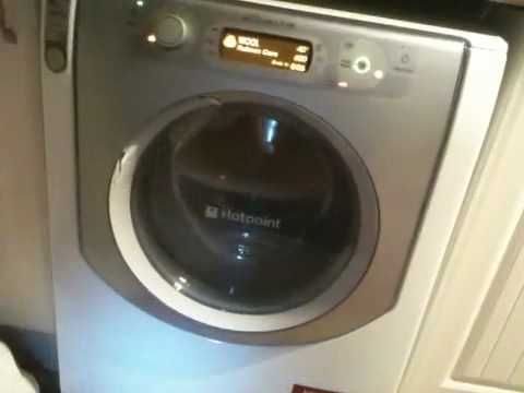 hotpoint aqualtis spin on wool wash youtube. Black Bedroom Furniture Sets. Home Design Ideas