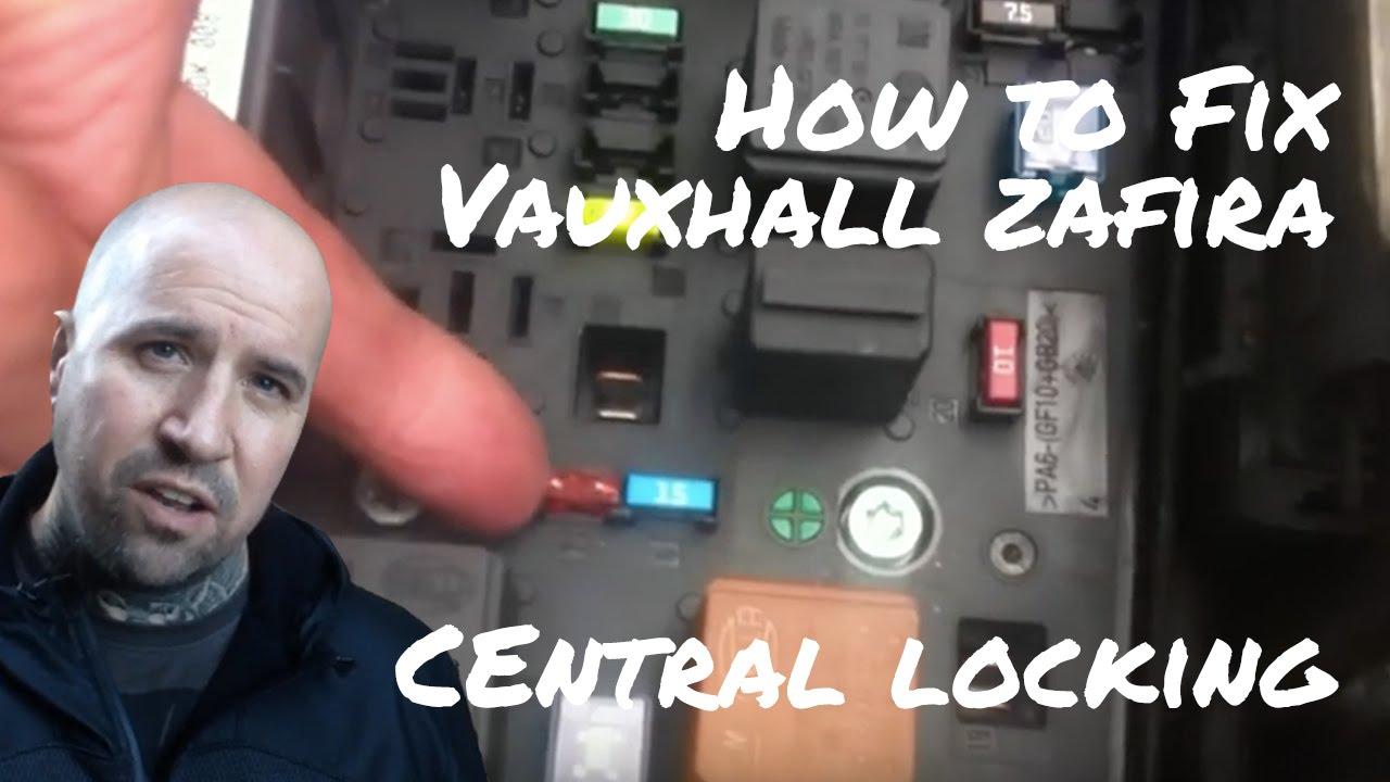 Vauxhall Zafira Central Locking Not Working  YouTube