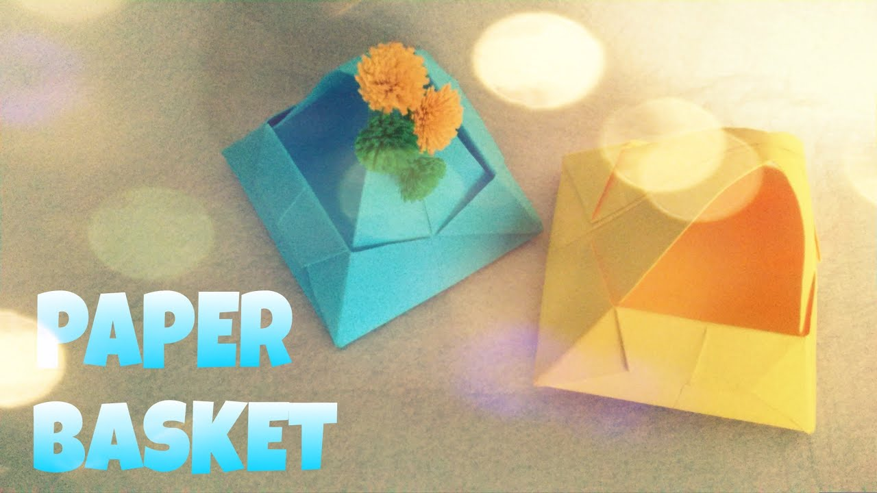 Origami Flower Basket