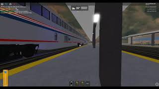 ROBLOX Amtrak Cardinal Train Departed out of Winston Station