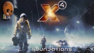 X4  Foundations #7➤Халявный Одиссей, корабль L-класса. Отстраиваем штаб, цепочки продукции, чертежи.