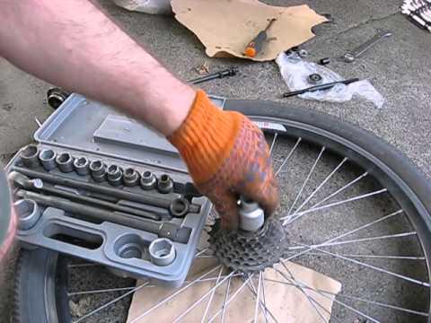 Как снять кассету на велосипеде (задние звезды, трещетка)