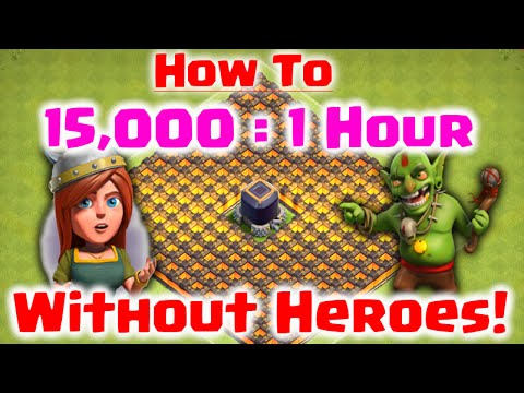 How to Farm 15,000 Dark Elixir in 1 Hour WITHOUT HEROES - Clash of Clans - Fast DE Farming Strategy