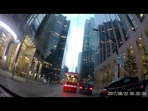 Driving Downtown - Toronto's Main Street - Toronto Canada 2017