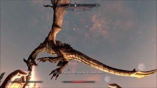 The Elder Scrolls V: Skyrim - Dragon Sahloknir Fight - 1080p Ultra High Settings GT 650M