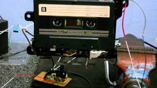 555 timer class D amplifier and  tape recorder experiments