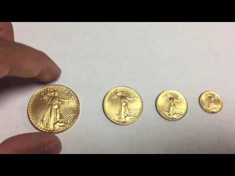 1986 American Gold Eagles 1 oz, 1/2 oz, 1/4 oz, 1/10 oz.