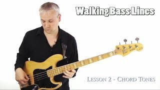 How To Play Walking Bass Lines - Using Chord Tones (l#54)