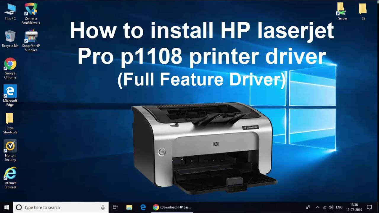 How to Install hp Laserjet pro p1108 printer driver on ...