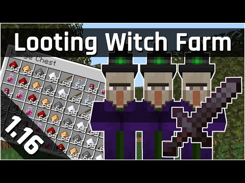 Looting Witch Farm Tutorial | Minecraft 1.16 (Java Edition)