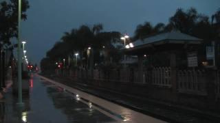 HD - Amtrak Pacific Surfliner BLASTS Through Carlsbad Village at 90 M.P.H.!