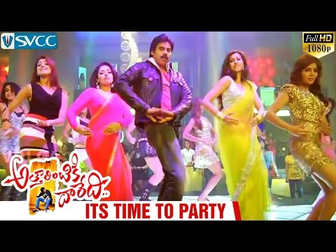 Attarintiki Daredi Video Songs | Its Time To Party Song | Pawan Kalyan | Mumtaj | Hamsa Nandini