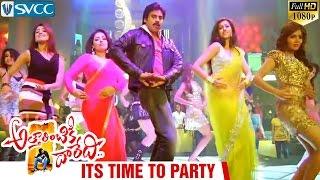 Attarintiki Daredi Video Songs | Its Time To Party Song | Pawan Kalyan | Mumtaj | Hamsa Nandini