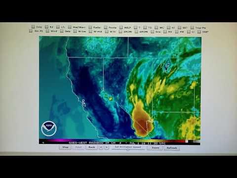7-1-2016; Climate Change: Thunderstorm over Hoover Dam, Las Vegas & Eastern CA Microwaved