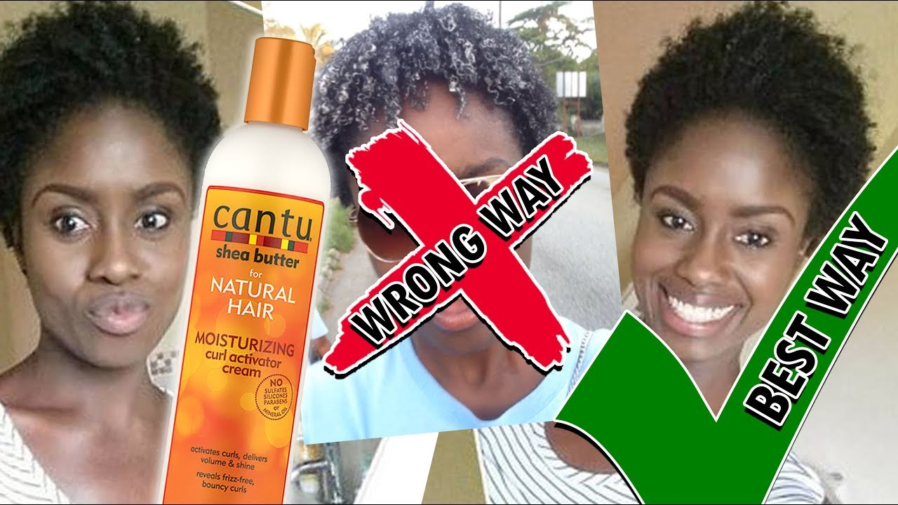 Cantu Shea Butter Curl Activator Cream On Dry Natural Hair