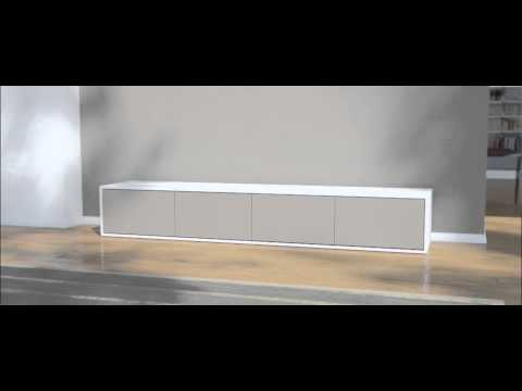 lowboard nach ma mit 4 t ren youtube. Black Bedroom Furniture Sets. Home Design Ideas