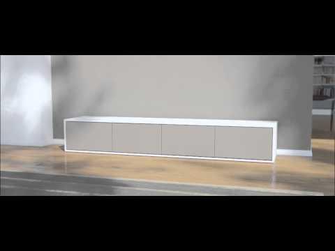 Lowboard nach ma mit 4 t ren youtube for Tv lowboard selber bauen