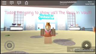 Requirements For Vault [N, I, A and E] || Roblox Paradise Gymnastics || KittyCatGirl687