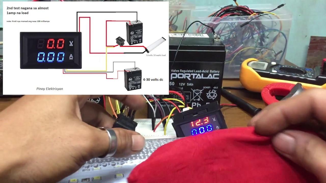 Dc 100v 10a Red Blue Led Amp Dual Digital Voltmeter Ammeter Volt Meter Gauge Youtube