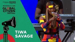 "Tiwa Savage Performs ""All Over"" | Global Citizen Festival: Mandela 100"