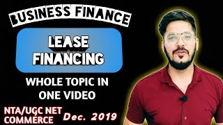 Lease Financing with pdf I Business finance I ugc Net commerce I