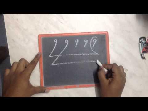 How to draw saraswati. Numerical saraswati.