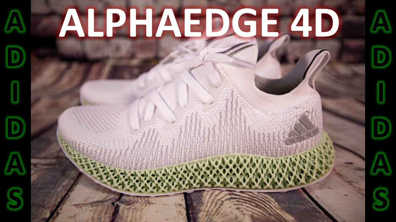 1835c0fcaa0c1 Unboxing of adidas ALPHAEDGE 4D White - YouTube